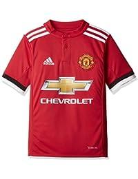 Adidas MUFC H JSY Y Camiseta 1ª Equipación Manchester United FC, Niños, Rojo (rojrea/Blanco / Negro),…