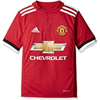 adidas MUFC H JSY y Camiseta 1ª Equipación Manchester United FC, Niños, Rojo (Rojrea/Blanco/Negro), 140 (9/10 Años)