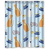"""'152centimetri x183cm (60""""x72) baño ducha cortina, Gato del cómic universal sobre tamaño Creative Personalità cortina de acquazzone impermeable"""
