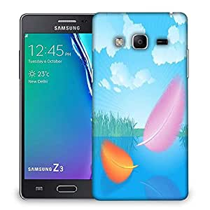 Snoogg feathers vector Designer Protective Back Case Cover For Samsung Galaxy Tizen T3