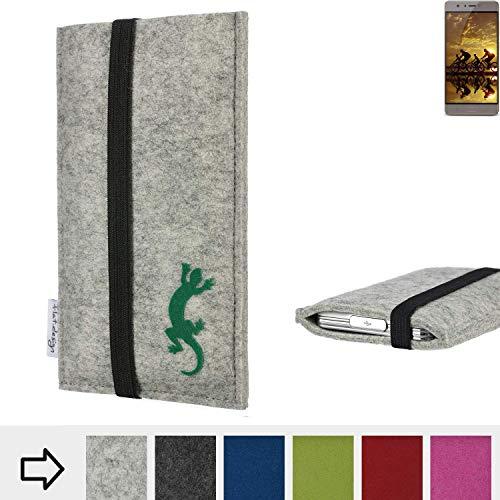 flat.design Handy Hülle Coimbra für Allview P9 Energy S handgefertigte Handytasche Filz Tasche Case fair Gecko