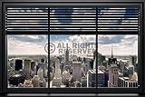 REINDERS New York - Fenster Jalousie - Poster 91,5 x 61 cm