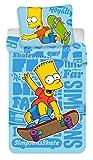 Simpsons Bart Skate Bettwäsche, Bettbezug für Einzelbett, 100% Baumwolle