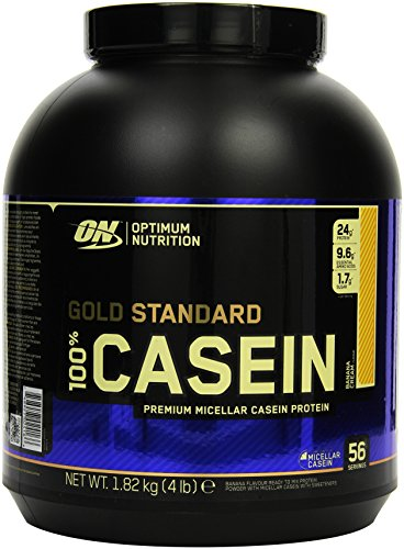 Optimum Nutrition 100% Casein Protein Banana Cream, 1er Pack (1 x 1,8 kg)