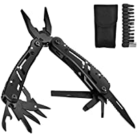 Aibesser Pocket Multi Tool Knife Pliers Stainless Steel, 11 in 1 Pocket Foldable Multitool Screwdriver Knife Pliers with Carry Bag