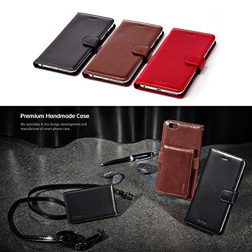 Platino in vera pelle bovina smartphone 3in 1iPhone 6+