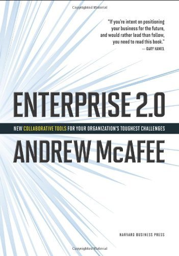 Portada del libro Enterprise 2.0: New Collaborative Tools for Your Organization's Toughest Challenges [Hardcover] [2009] 1 Ed. Andrew McAfee