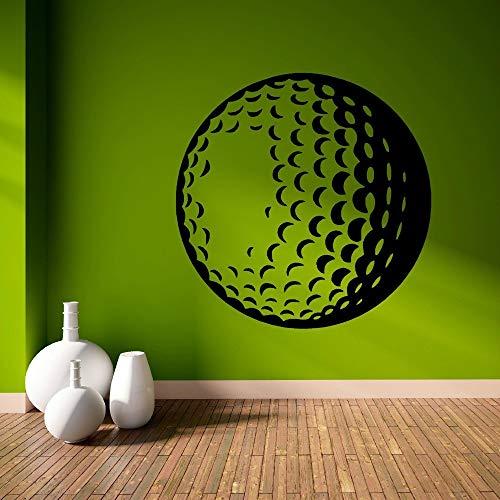 JJHR Wandtattoos Wandaufkleber 3D Ansichten Golf Ball Kunst Wandbild Home Wohnzimmer Dekoration Wandaufkleber Sport Thema Serie Wandbild 42 * 42 cm (Golf-themen-dekorationen)