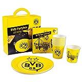 Borussia Dortmund BVB Partyset/Partybox ** Schwarz Gelb **