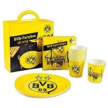 Borussia Dortmund, Party box (40 pieces), black-yellow,