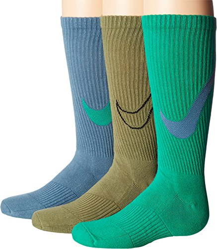 Nike Big Boys' Performance Crew Socks (MD (5-7 Big Kid Shoe), Multicolor 8) (Nike Big Kinder Socken)