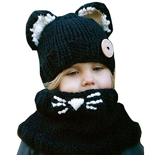 Baby-Mädchen-Jungen-Winter-warmer Fox-Tier gestrickte Coif (Hut Fox Tier)