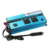 KKmoon 800W Auto Inverter di Potenza DC 24V a AC 220V 50Hz con 4 USB Porte / 2 AC Prese / Display di Tensione