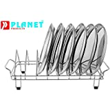 Planet Stainless Steel Plate Rack - Dish Rack - Plate Stand - Dish Stand - (Utensil Rack) Chrome Plated