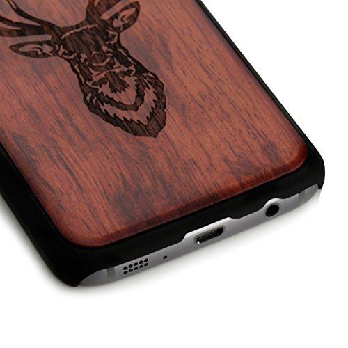 Arktis iPhone 8 / 7 Case, Arktis Holzhülle Holz Cover - Weltkarte Hirsch
