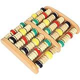 HealthPanion Conjunto de 1 Rodillo de pies con ruedas de madera de colores – Herramienta masajeadora de pies DIY – Trátese con los beneficios de la reflexología y de los relajantes masajes de pies en casa.