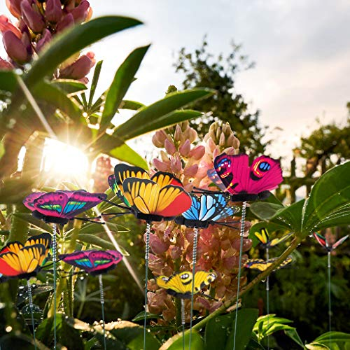 Dekorative Blumenkränze,TwoCC Im Freien Hof Schmetterling Einsätze Pflanzgefäß Blume Topf Bett Garten Dekor Schmetterlinge