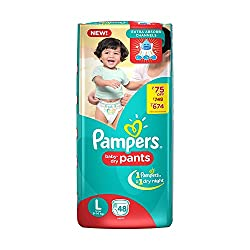 Pampers Medium And Small Size Diapers Pants (Large)