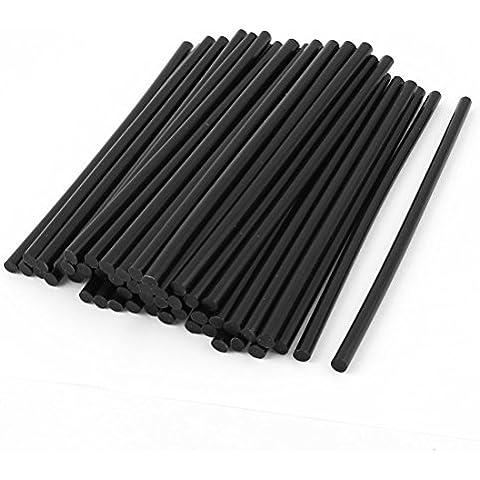 Sourcingmap  - 50 pc 7 mm de longitud de 190 mm de diámetro de soldadura de hierro fundido en caliente negro barra de