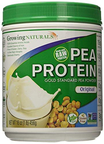 Growing Naturals Yellow Pea Protein Original, Original 16 OZ