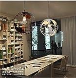 Eeayyygch Industrieloft Loft Retro Cafe Bar Gang Balkon Kronleuchter Kreative Moderne Minimalistische Restaurant, Weiß, 30x30 cm (Farbe : 30x30cm-white)