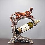 Maerye Harz Handwerk Leben Zimmer Bar Ornamente Einfache Moderne Leopard Wein Regal