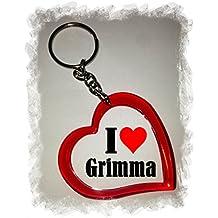 """Exklusive Geschenkidee: Herzschlüsselanhänger """"I Love Grimma"""", eine tolle Geschenkidee die von Herzen kommt - Rucksackanhänger- Liebesanhänger- Weihnachts Geschenktipp"""