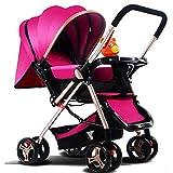 baby stroller Leichte Kinderwagen Können Liegestütze Kinderwagen Buggy Neugeborenen Kinderwagen Kinderwagen Sitzen,Pink