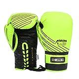 Xasclnis Combatti Guanti protettivi da Boxe, Guanti da Boxe da Allenamento per Uomo (Color : Green)