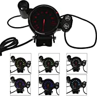 "KKmoon 3.5"" Tachometer 3.5Inch Diameter Car Tachometer RPM Gauge 0-11000 RPM with 7 Colors Backlight"