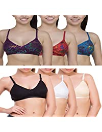 ROMANTIC MOOD Women s Mix Combo Roj Alina Bra (Pack of 6) c3a14e50f
