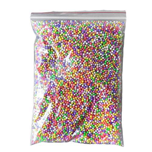 Healifty 2g Slime Foam Beads Mini Styrofoam Balls for Kids Slime Making Art DIY Craft (Mixed Color)