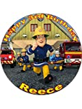 7.5 Fireman Sam Edible Icing Birthday Cake Topper by CakeThat