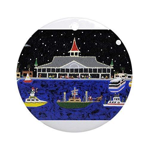 Rea66de Newport Weihnachtsdekoration Strandboot Parade (rund)