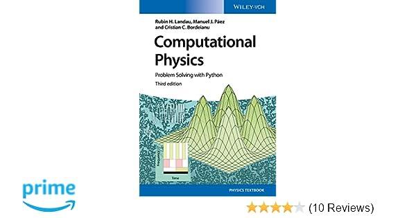 Computational Physics: Problem Solving with Python (No
