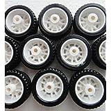 Robocraze 10Pcs Rubber Hollow Tire Car Wheel Model Wheels Science Project Kit Toy Accessories for Car RC17678