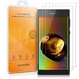 2x kwmobile Pellicola Protettiva in Vetro Temperato trasparente per Sony Xperia L1 - Qualità premium