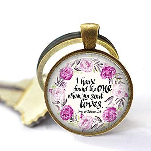 I Have Found The One My Soul Loves Bibelvers Schlüsselanhänger Geschenk, Liebesgeschenk, Valentinstagsgeschenk, Brautgeschenk ()