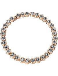 Yoursfs Zirkonia Tennis Armband Kette Damen 18K Rosegold Vergoldet Armkette mit Glitzer Strass Modeschmuck für mädchen freunden
