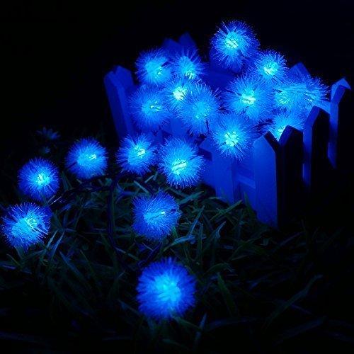 SUAVER 16ft/20LED Chuzzle Ball Wasserdicht Solarleuchten Für Außen, Garten, Hof, Haus, Landschaft und Feiertags-Dekorationen (Blau)