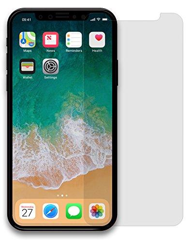 MyGadget Display Schutz Folie [Matt] für Apple iPhone X - Entspiegelt Full Screen Panzerglasfolie Protector - Harte 9H Panzerglas Schutzfolie Vorne -