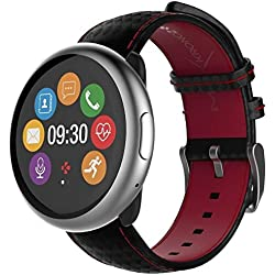 "MyKronoz ZeRound2 HR Premium 1.22"" TFT Negro, Rojo reloj inteligente - Relojes inteligentes (3,1 cm (1.22""), TFT, Pantalla táctil, 72 h, 53 g, Negro, Rojo)"