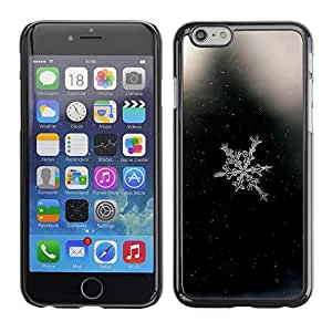 Omega Covers - Snap on Hard Back Case Cover Shell FOR Apple Iphone 6 Plus / 6S Plus ( 5.5 ) - Space Black Snowflake Black