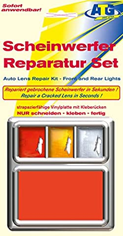 Lens Repair Quick Fix Tail Light Turn Signal and Marker Plastic sheet red