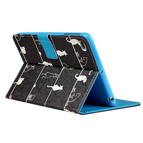 iPad Mini 3 Housse,Dessin Animé Etui à Wallet Shell Pour Apple iPad Mini 2,Ekakashop Jolie Luciole Design Ultra-Mince Bookstyle Filp Case Stand Coque Housse de Protection Magnétique Cas Wallet Portefe Chat Espiègle