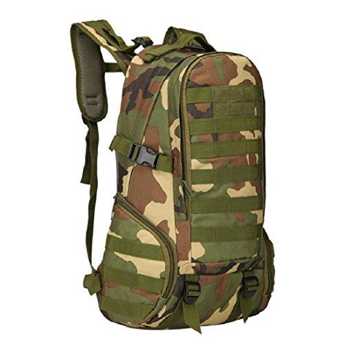 LF&F Backpack Camping outdoor Zaini Borse Alpinismo Camping Outdoor Sport Trekking 40L Camouflage Nylon Impermeabile Ventilazione Comoda Soft Tactical 3P Zaino B 40L F