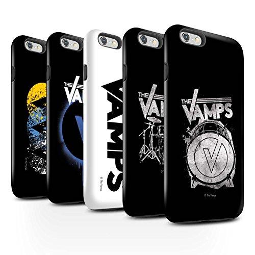 Offiziell The Vamps Hülle / Glanz Harten Stoßfest Case für Apple iPhone 6+/Plus 5.5 / Pack 6pcs Muster / The Vamps Graffiti Band Logo Kollektion Pack 6pcs
