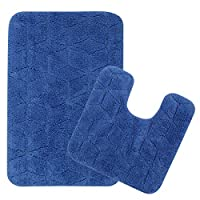 Saral home cotton soft fast water absorbent anti slip bathmat with contour set with latex rubber backing. Mat size is 50x80 cm and contour sixe is 50x50cm.