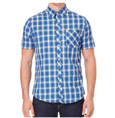 Ben Sherman Herren Freizeit-Hemd Gr. X-Large, Blau/Grün (Ben Sherman-hemd)