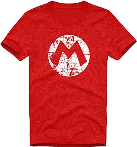 (EZYshirt Mario Herren T-Shirt Organic Cotton Rundhals Premium Shirt | Bio Baumwolle T-Shirt | Herren Shirt)